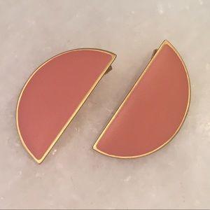 Madewell Pink Semi-Circle Earrings